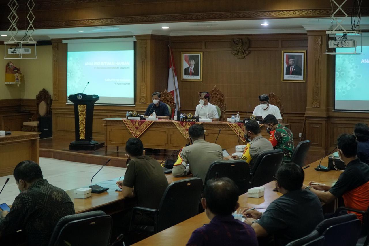 Kegiatan Rapat Koordinasi Satgas Penanganan Covid-19 Kabupaten Badung