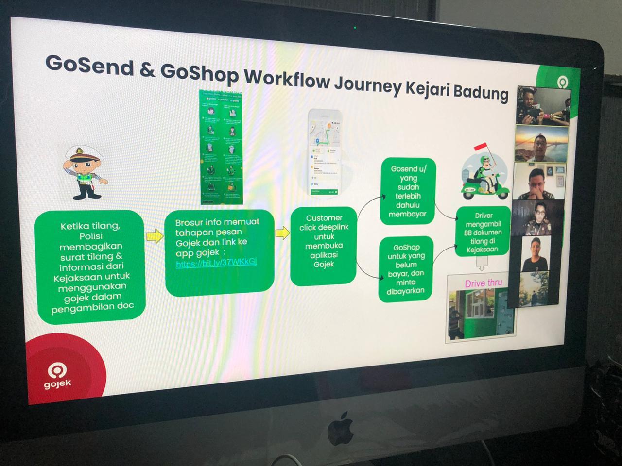 Kejari Badung bekerja sama dengan Pihak Gojek Denpasar untuk mempersiapkan sistem antar barang bukti dan tilang kepada masyarakat.