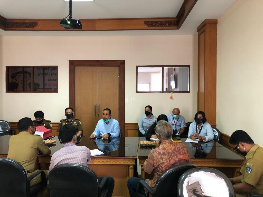 Koordinasi antara Tim JPN Kejari Badung dengan Desa Adat Sembung terkait Lanjutan Pembangunan Desa